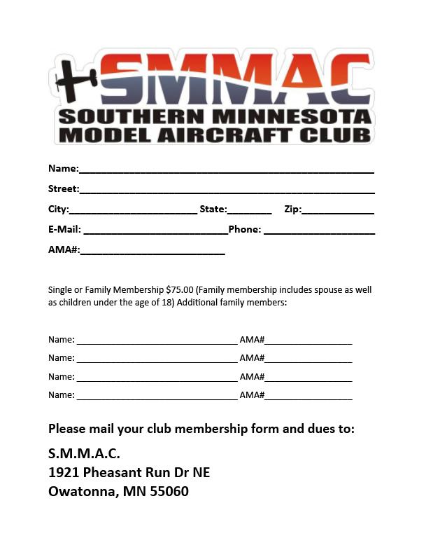 SMMAC Membership Form